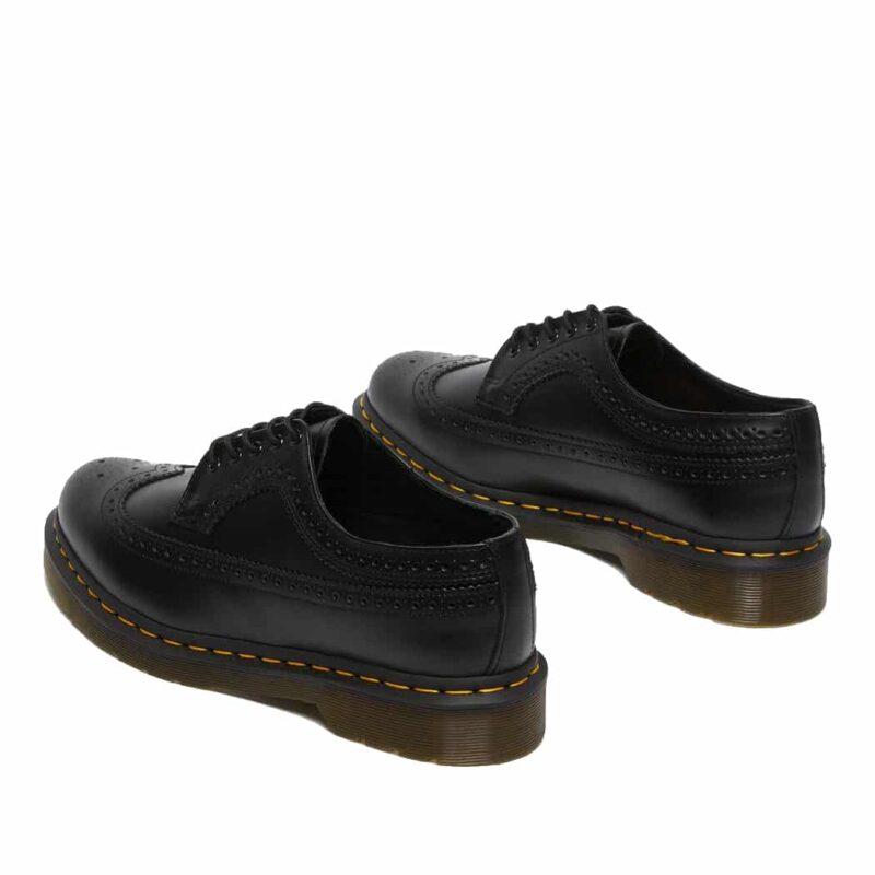 Dr. Martens 3989 Black Wingtip 5-Eye Shoe 6