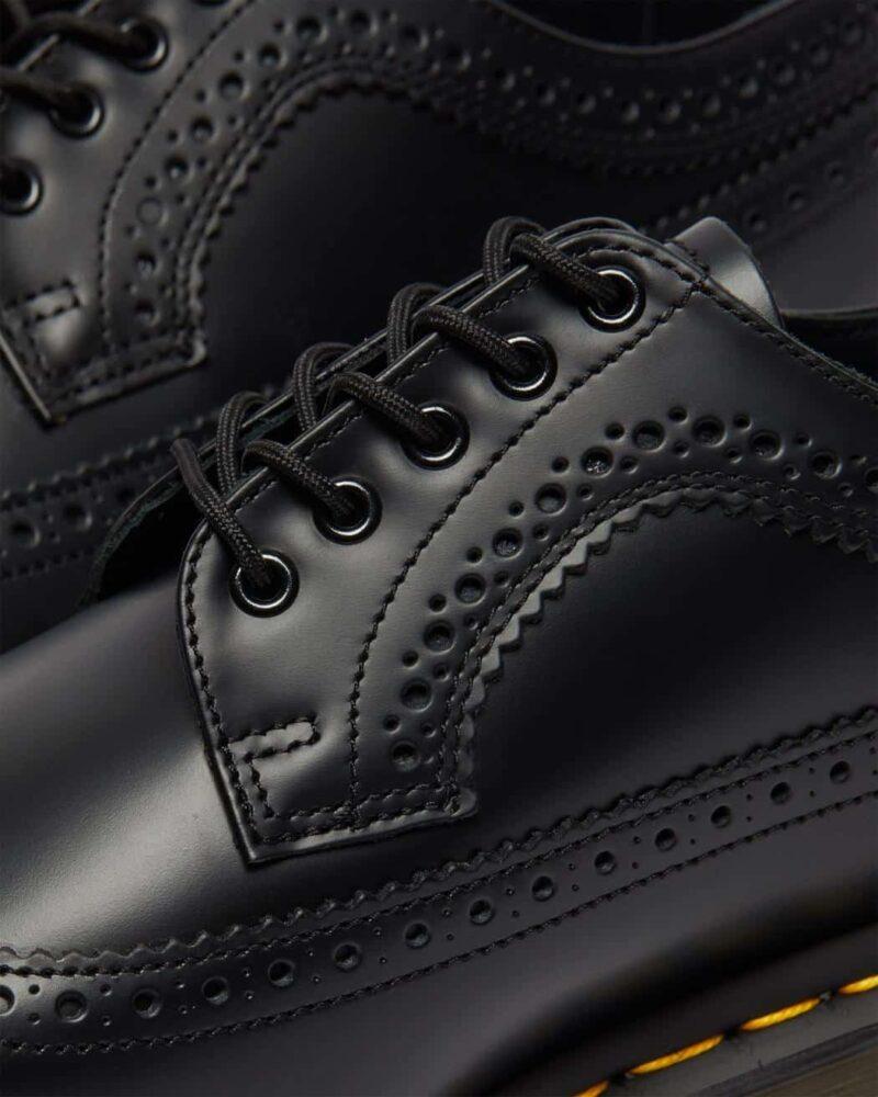 Dr. Martens 3989 Black Wingtip 5-Eye Shoe 1