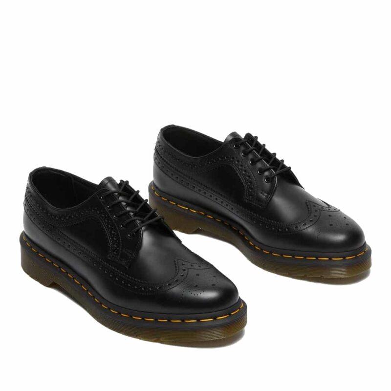 Dr. Martens 3989 Black Wingtip 5-Eye Shoe 3