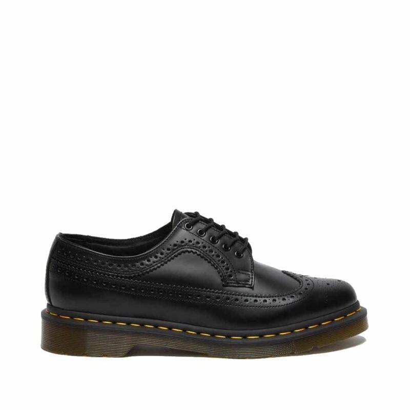 Dr. Martens 3989 Black Wingtip 5-Eye Shoe 2