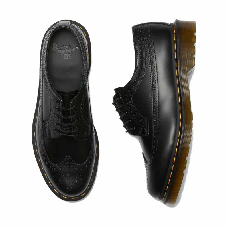 Dr. Martens 3989 Black Wingtip 5-Eye Shoe 5