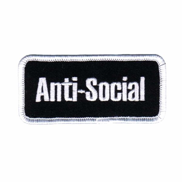Anti-Social Name Tag Patch