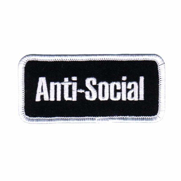 Anti-Social Name Tag Patch