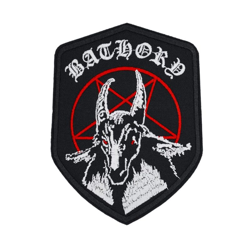 Bathory Pentagram Embroidered Patch