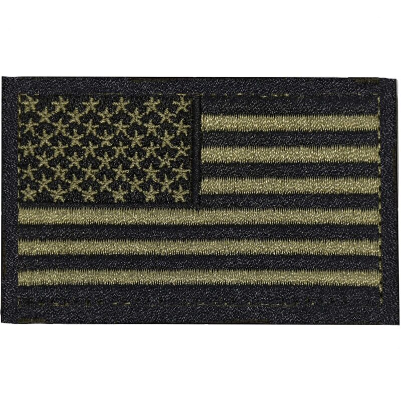 Black and Olive US Flag Patch