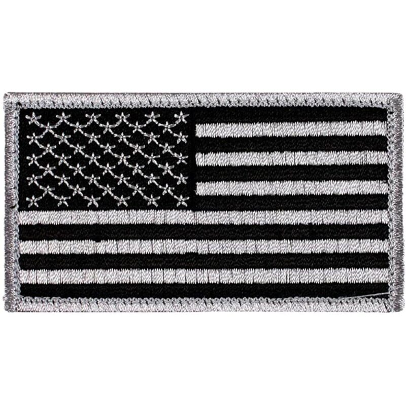 Black and White US Flag Patch
