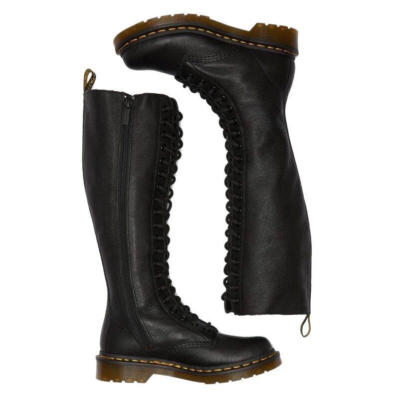 Dr. Martens 1B60 Black Virginia 20-Eye Boot 7