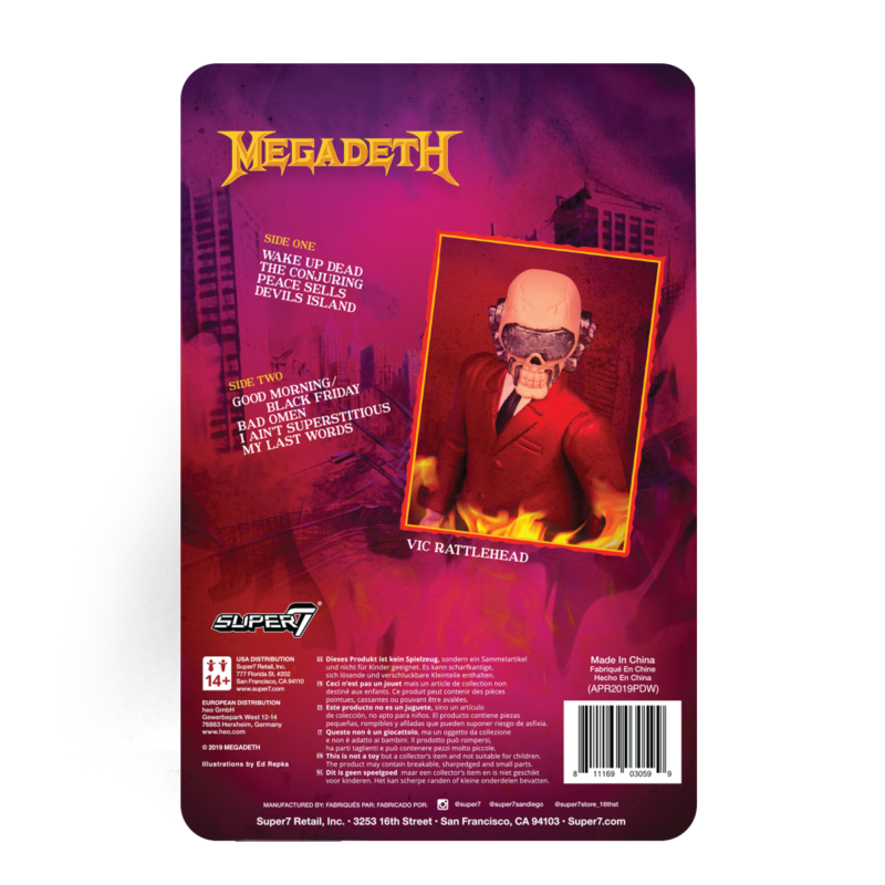 Megadeth Vic Rattlehead Action Figure by Super7 2