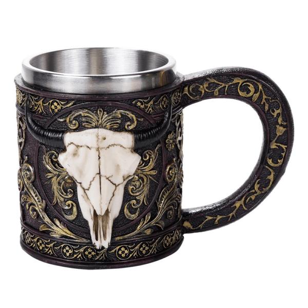 Longhorn Bull Skull Mug