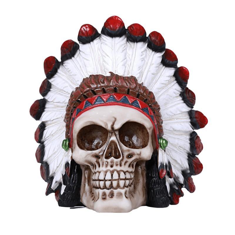 Native American Skull Figurine