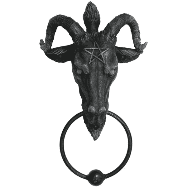 Baphomet Head Door Knocker