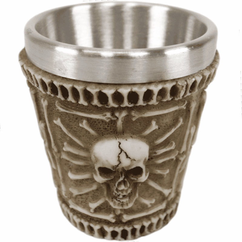 Ossuary Skull Shot Glass