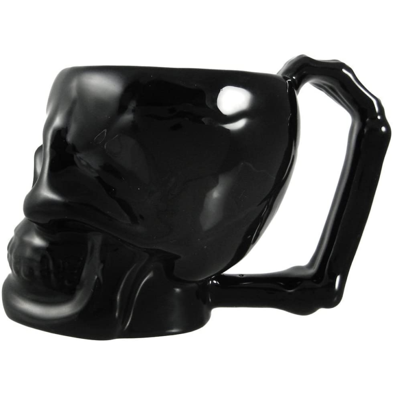 Black Ceramic Skull Mug 1