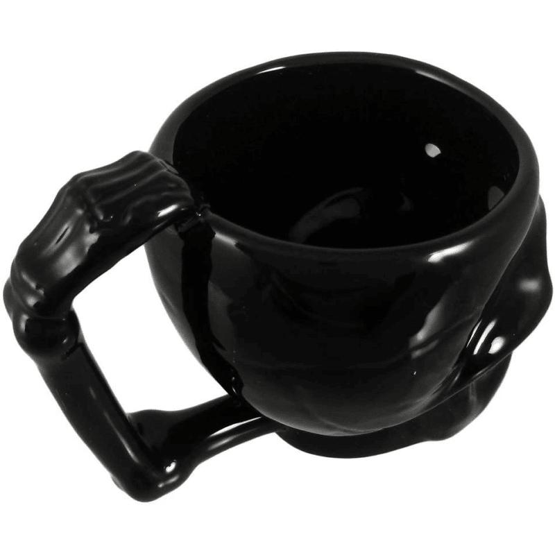 Black Ceramic Skull Mug 2