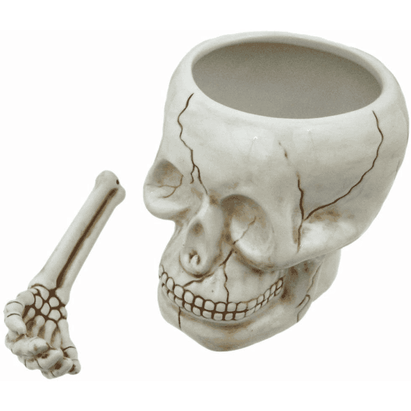 Skull Bowl with Spoon