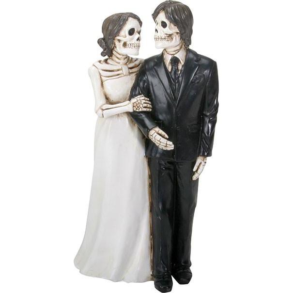 Skeleton Wedding Couple Figurine