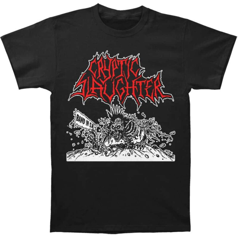 Cryptic Slaughter Band in S.M. T-Shirt