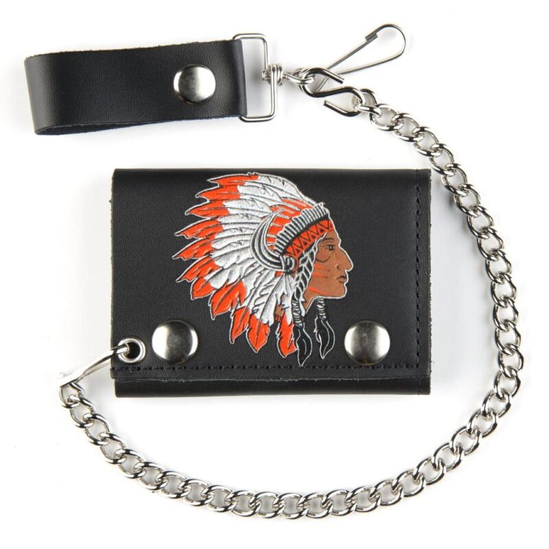Tribe Chief Tri-Fold Wallet w/ Chain