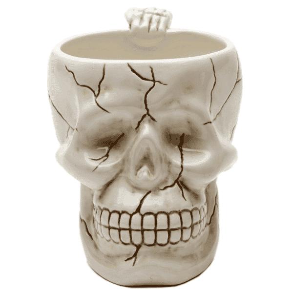 White Ceramic Skull Mug 1