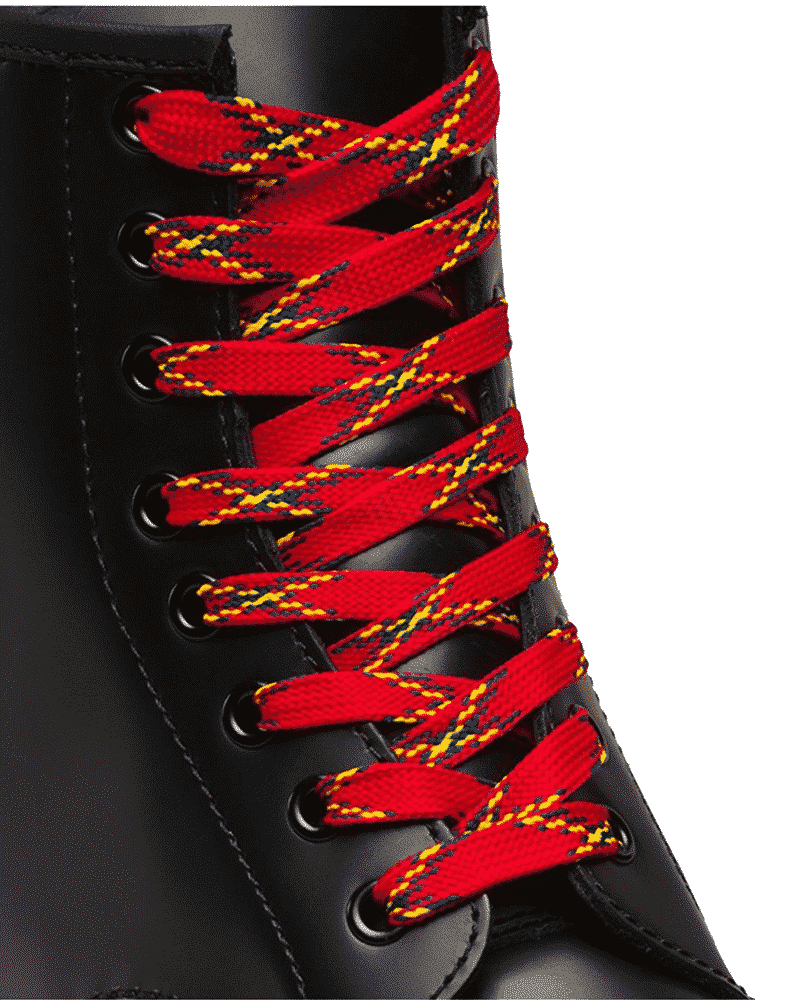 Dr. Martens 8-10 Eye Laces Red Plaid 1