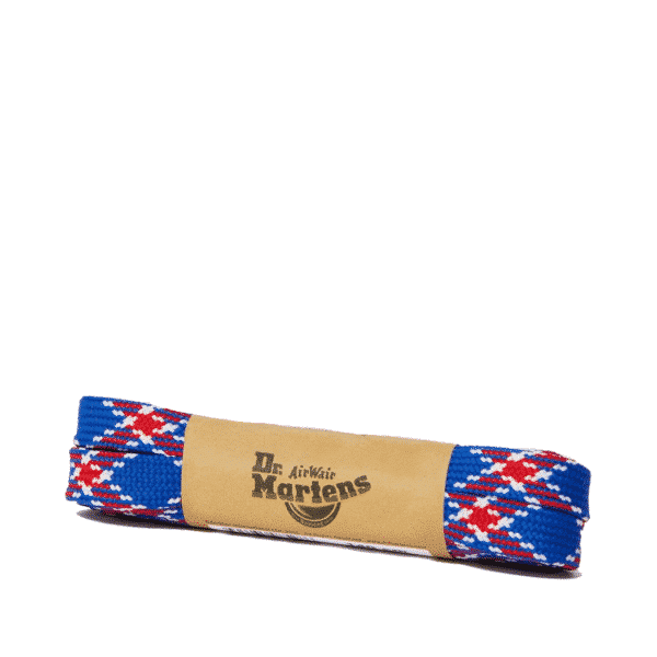8-10 Eye Laces Blue Plaid