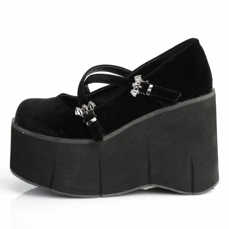 Demonia Velvet Platform Mary Jane Kera-10 2