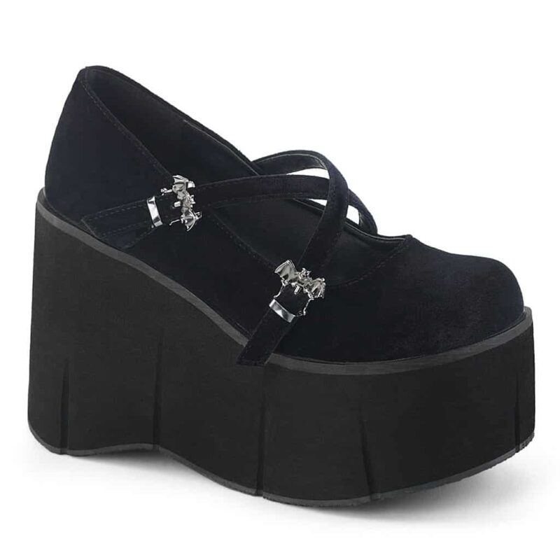 Demonia Velvet Platform Mary Jane Kera-10