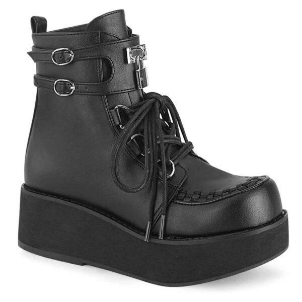 Demonia Platform Ankle Boot Sprite-70