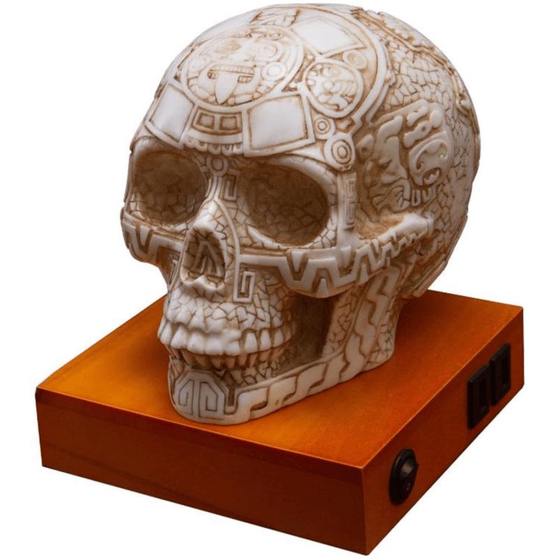 Mesoamerican Aztec Skull Table Lamp