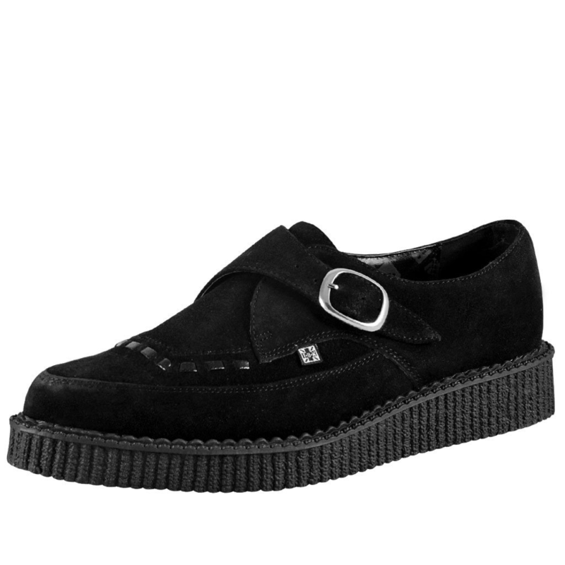 TUK Black Suede Pointed Creeper A8139 1