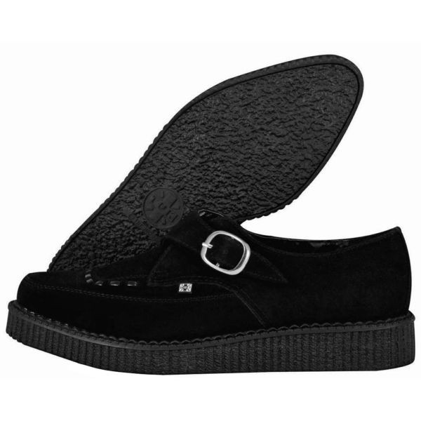 TUK Black Suede Pointed Creeper