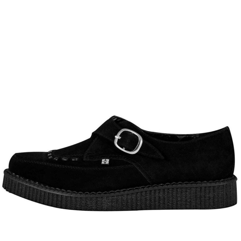 TUK Black Suede Pointed Creeper A8139 2