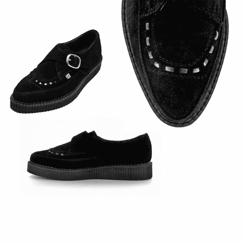 TUK Black Suede Pointed Creeper A8139 3