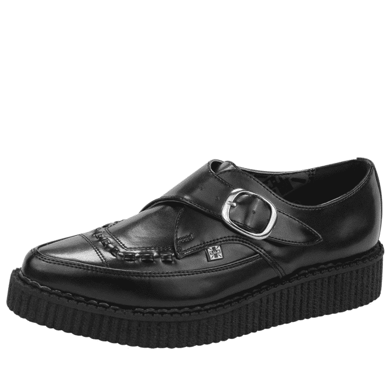 TUK Black Leather Pointed Creeper A8520 1