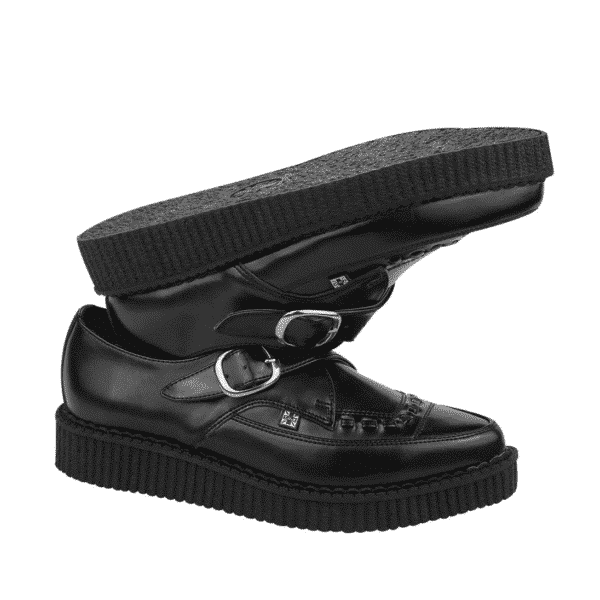 TUK Black Leather Pointed Creeper A8520