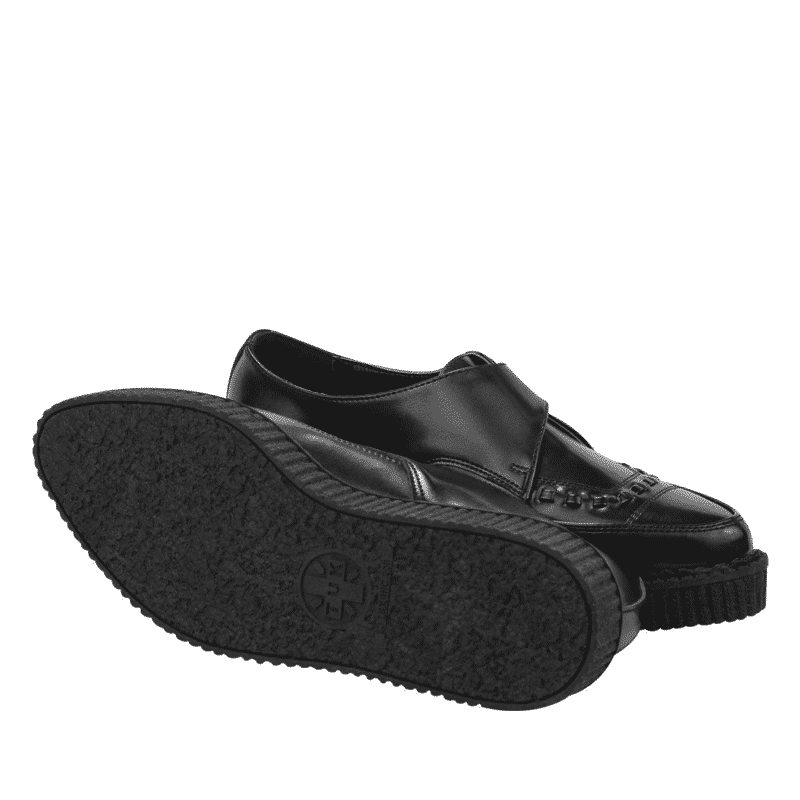TUK Black Leather Pointed Creeper A8520 3
