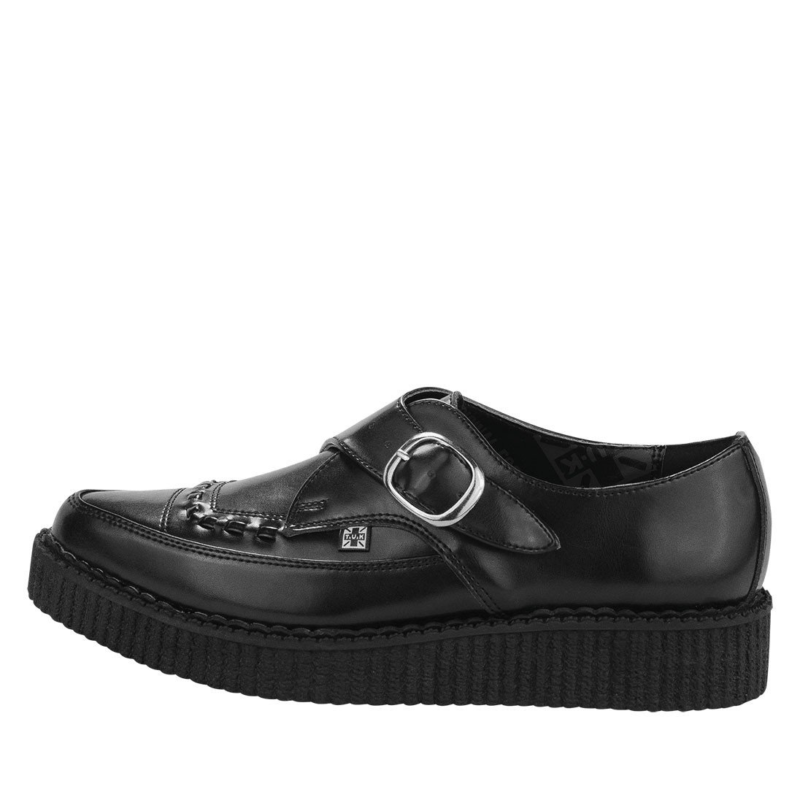 TUK Black Leather Pointed Creeper A8520 2