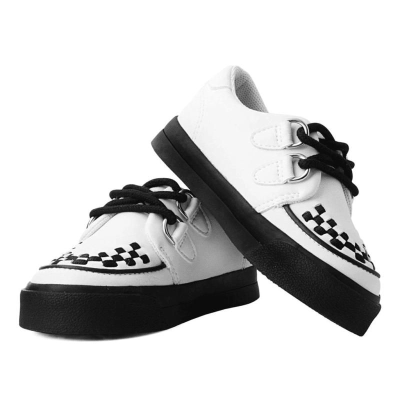 TUK White Toddler Sneaker Creeper