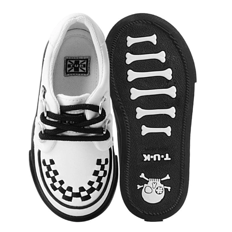 TUK White Toddler Sneaker Creeper A9788 3