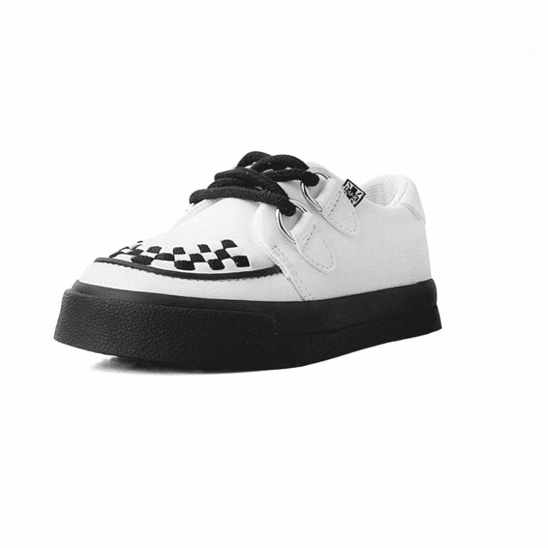 TUK White Toddler Sneaker Creeper A9788 1