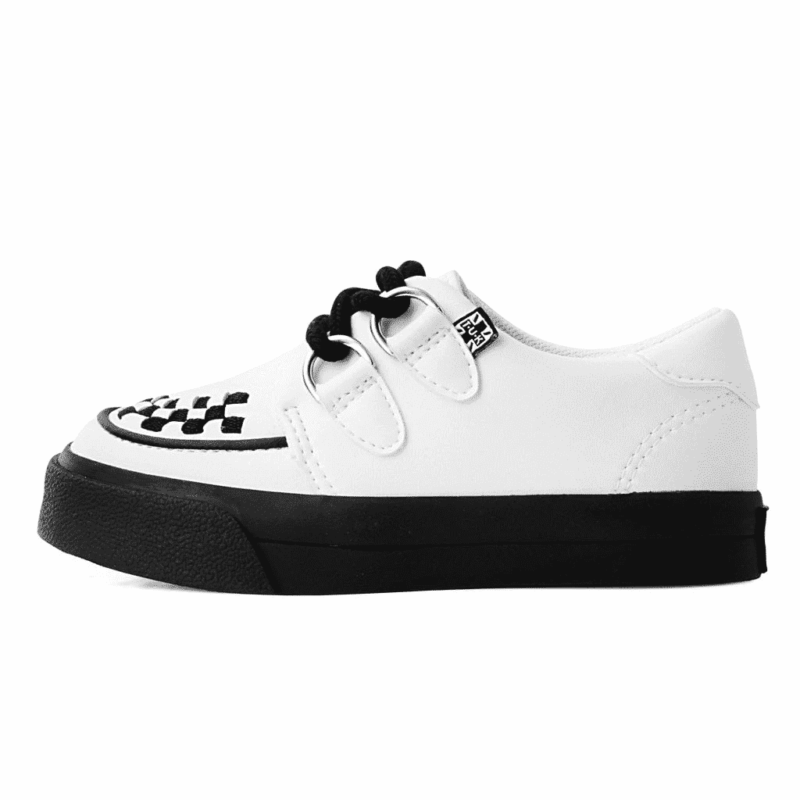 TUK White Toddler Sneaker Creeper A9788 2