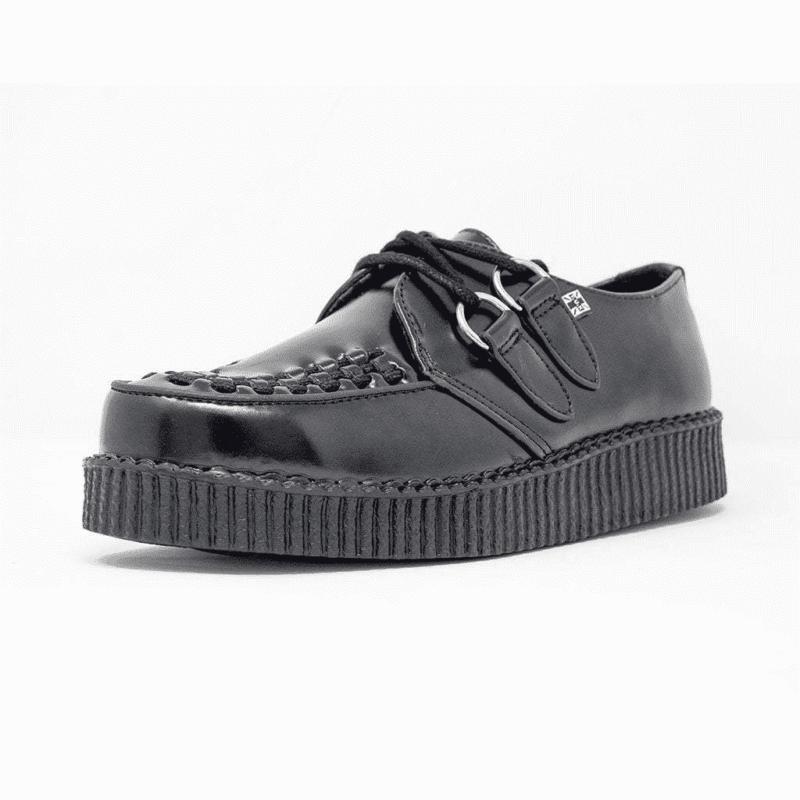 TUK Black Leather Low Creeper F6806 1