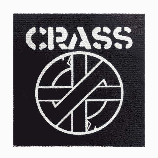 Crass Black Cloth Patch