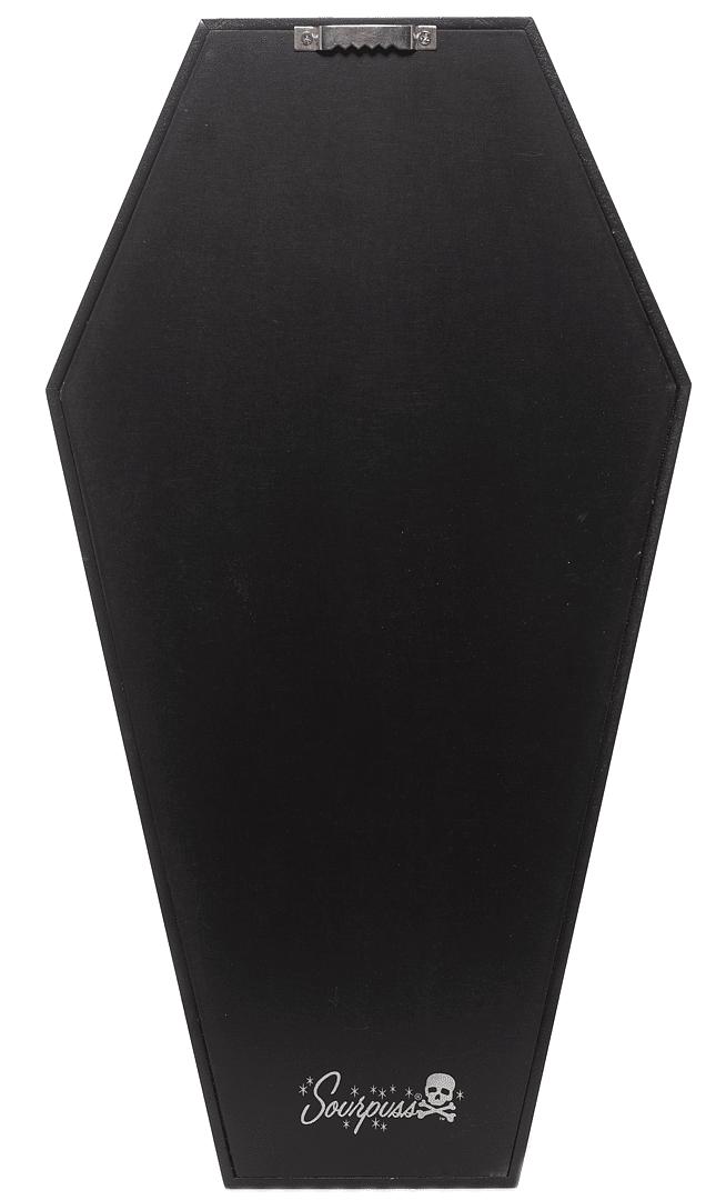 Black Bat Print Coffin Shelf by Sourpuss Clothing 2