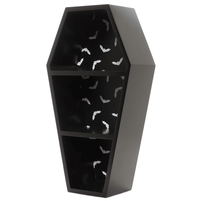 Black Bat Print Coffin Shelf by Sourpuss Clothing 1