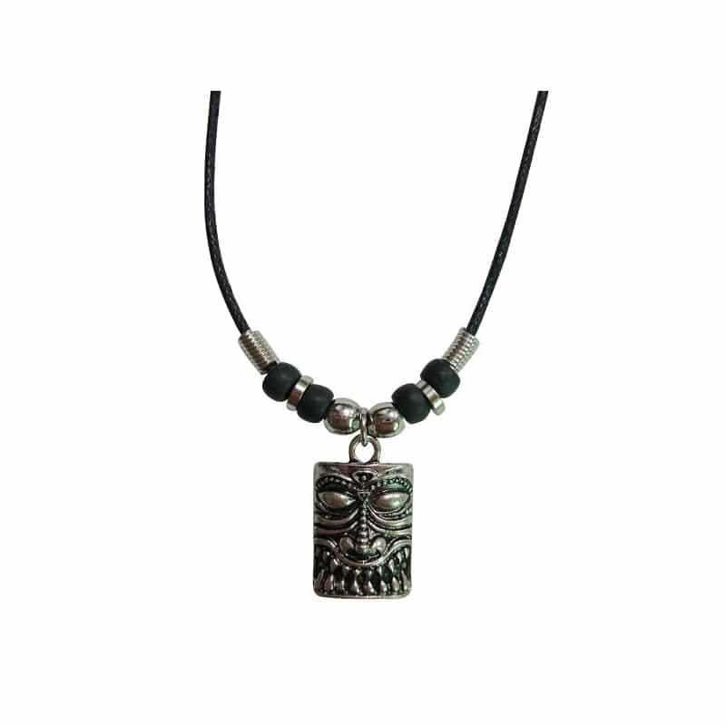 Silver Tiki Head Necklace