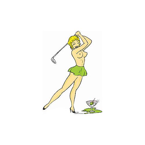 Kozik Nude Golfer Sticker