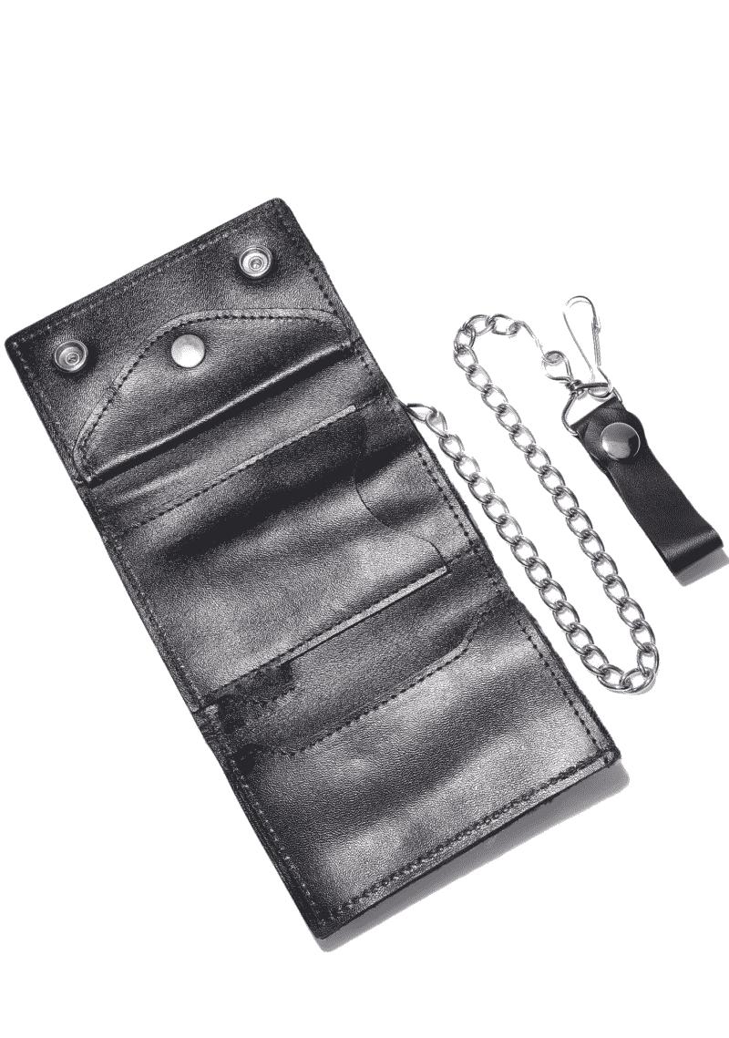 Fuzzy Leopard Tri-Fold Wallet w/ Chain 2