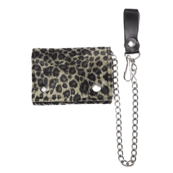 Fuzzy Leopard Tri-Fold Wallet