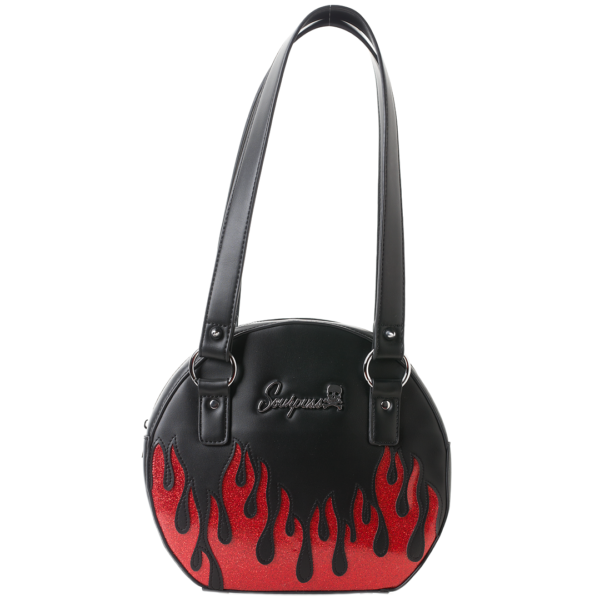 Up in Flames Round Purse by Sourpuss Clothing